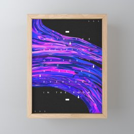 EXCEPTION Framed Mini Art Print