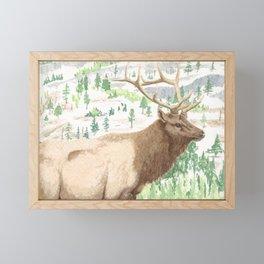 Elk Framed Mini Art Print
