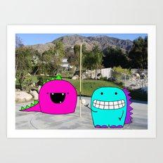Monster Tetherball Art Print