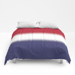 Red White and Blue Gradient Ombré Comforters