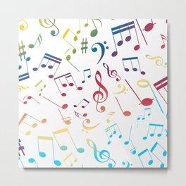 Musical Notes 5 Metal Print