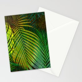 TROPICAL GREENERY LEAVES no2 Stationery Cards
