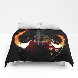 Burning Rock Guitar Comforters