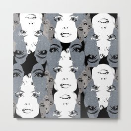 Faces of Angelina Metal Print