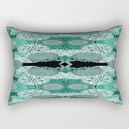 Snowflake in Teals Rectangular Pillow