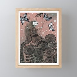 Night Garden (1) Framed Mini Art Print