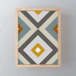 Mid West Geometric 04 Framed Mini Art Print