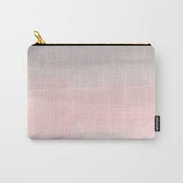 Blushing Pink & Grey Watercolor Carry-All Pouch