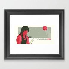Rambo First Blood Movie  Scene  Framed Art Print