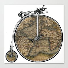 Penny Farthing Map Canvas Print