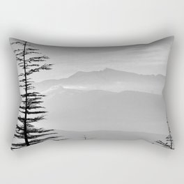 Rainbow clouds at the mountains at sunrise. BW Rectangular Pillow
