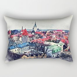 Tallinn Old Town Rectangular Pillow