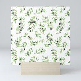 Olive Branch Repeat Print Mini Art Print