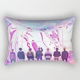 bts dna rainbow Rectangular Pillow