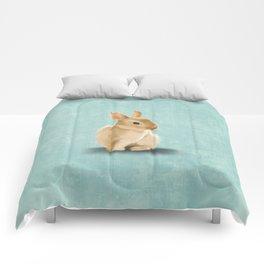 Portrait of a little bunny Comforters