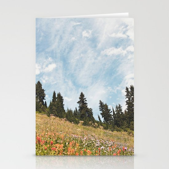Mountain Flowers in the Sun Stationery Cards