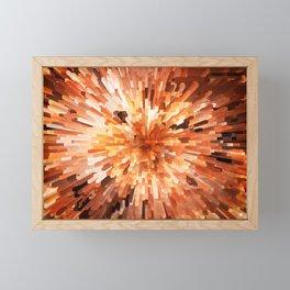 Orange Burst Framed Mini Art Print