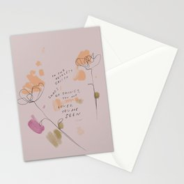 """""""In The Reckless Gritty Chaos Of Things, You Are Loved, You Are Seen."""" Stationery Cards"""