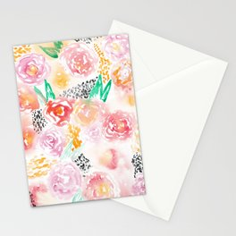 Abstract Watercolor III Stationery Cards