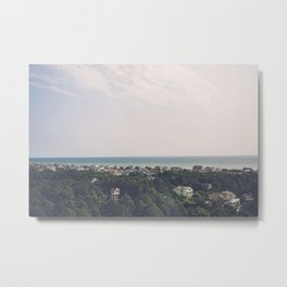 Aerial Outer Banks Metal Print