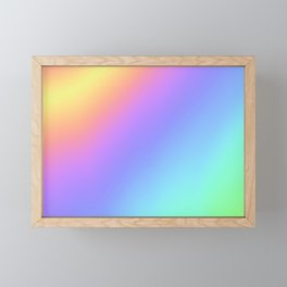 Holographic Foil Multi Colored Pattern Colorful Gradient Abstract Rainbow Framed Mini Art Print