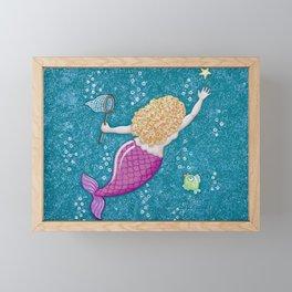 Catch a Falling Starfish Framed Mini Art Print