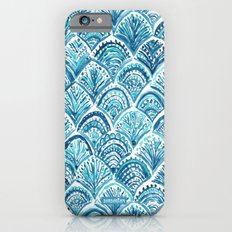 NAVY LIKE A MERMAID Fish Scales Watercolor iPhone 6s Slim Case