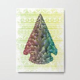 Neon Arrowhead Metal Print