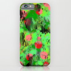Red dots on green Slim Case iPhone 6s