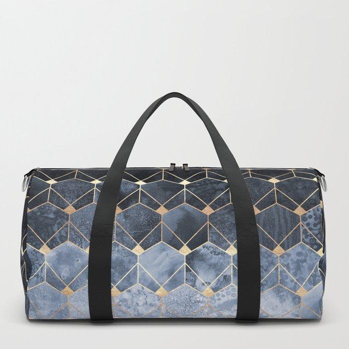 Blue Hexagons And Diamonds Sporttaschen