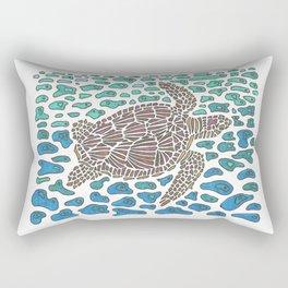 Vanishing Sea Turtle by Black Dwarf Designs Rectangular Pillow