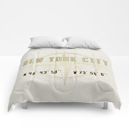 New York City Vintage Location Design Comforters