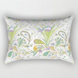 Whimsical Paisley Iris Rectangular Pillow