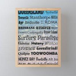 Queensland Poster Framed Mini Art Print