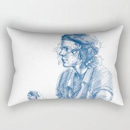 harry in blue Rectangular Pillow