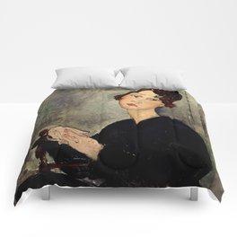 "Amedeo Modigliani ""Portrait of Dedie"" Comforters"
