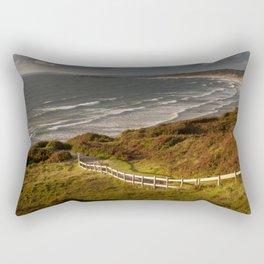 Rhossili bay south Wales Rectangular Pillow