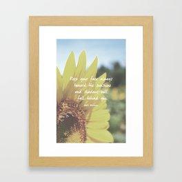 Sunflower Inspiration Print Framed Art Print