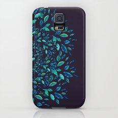 Blue Leaves Mandala Slim Case Galaxy S5