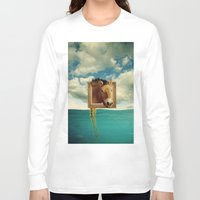 sea horse Long Sleeve T-shirts featuring Sea Horse by Ross Sinclair