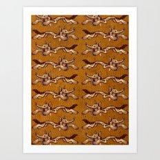 Run Wolf Run Art Print