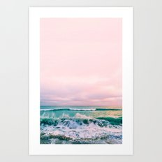 beach sunset photo Art Print