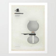 Coffee Contraption #4: Vacuum Art Print