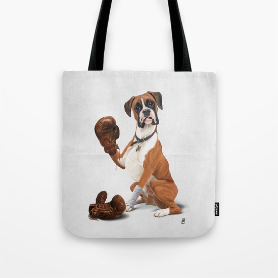 The Boxer (Wordless) Tote Bag