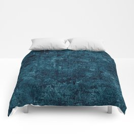 Blue Coral Oil Painting Color Accent Comforters