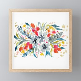 Floral Pattern Framed Mini Art Print
