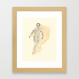 Burning Angel Framed Art Print