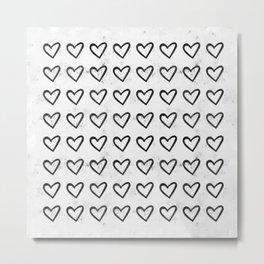 Big Heart Ink Pattern Metal Print