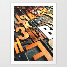 3B - Typography Photography™ Art Print