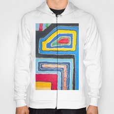 City Colors, Urban Happiness, Abstract Painting, Pop Art Hoody
